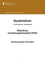 B.A. Öffentliche Verwaltungswirtschaft (ÖVW) - HWR Berlin