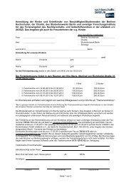 Anmeldebogen mit Informationen