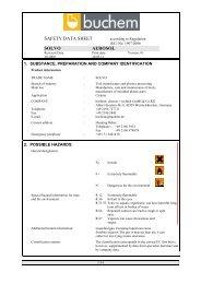 SAFETY DATA SHEET SOLVO AEROSOL - Buchem Chemie + ...