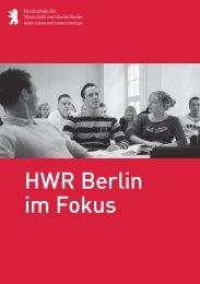 HWR Berlin im Fokus - Hochschule für Wirtschaft und Recht Berlin