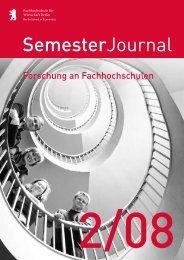SemesterJournal 2/08 - MBA Programme der HWR Berlin