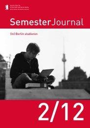 SemesterJournal 2/12 - Hochschule für Wirtschaft und Recht Berlin