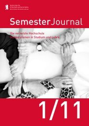 Semester Journal 1-11 - MBA Programme der HWR Berlin