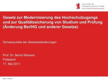 Gesetz zur Modernisierung des Hochschulzugangs und zur ...