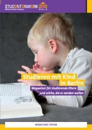 15 | Studieren mit Kind.pdf - Studentenwerk Berlin