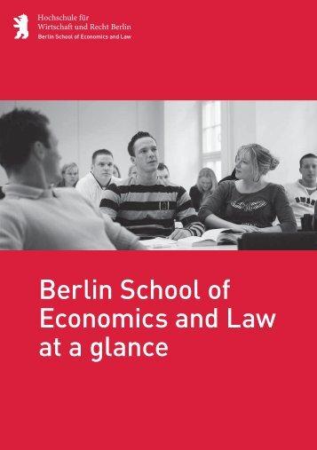 Corporate Flyer - Hochschule für Wirtschaft und Recht Berlin