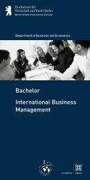 Information Flyer - Hochschule für Wirtschaft und Recht Berlin