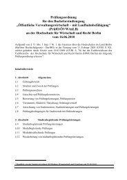 PrüfO/ÖVW - Hochschule für Wirtschaft und Recht Berlin