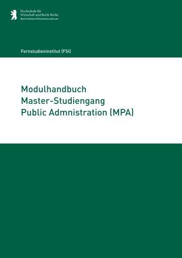 Modulhandbuch_final_2011_CD HWR - Hochschule für Wirtschaft ...