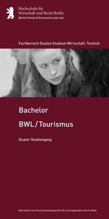 BWL / Tourismus Bachelor - Hochschule für Wirtschaft und Recht ...