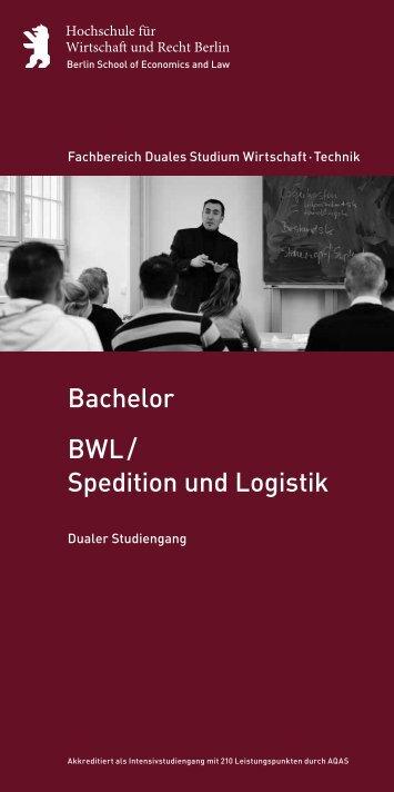 BWL / Spedition und Logistik Bachelor - Hochschule für Wirtschaft ...