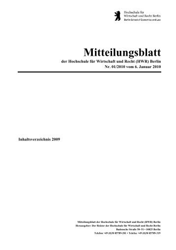 master thesis hwr berlin