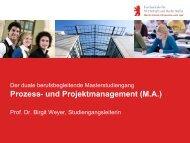 Prozess- und Projektmanagement (M.A.) - Hochschule für Wirtschaft ...