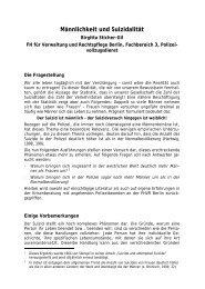 Männlichkeit und Suizidalität - HWR Berlin