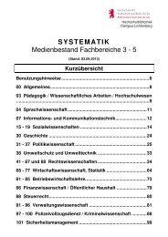 Systematik FB 3-5 - Hochschule für Wirtschaft und Recht Berlin