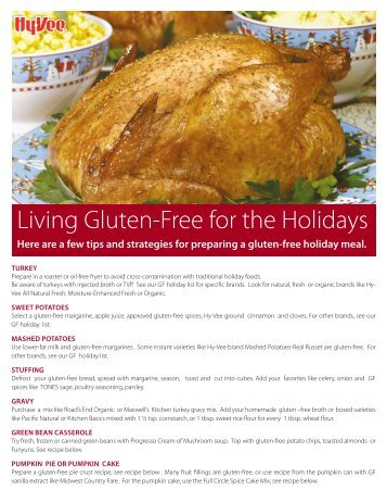 Living Gluten-Free for the Holidays - Hy-Vee