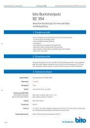 Technisches Datenblatt BZ 394 - Bito AG