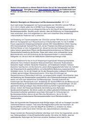 Anfang 2013: Der DMYV ruft auf, gegen die geplante ...