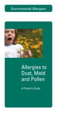 Allergies to dust, mold and pollen: A patient's guide - Hycor Biomedical