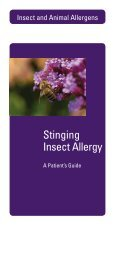 Stinging Insect Allergy - Hycor Biomedical