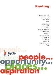 Renting - Hyde Housing Association