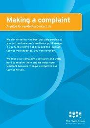 Complaints - Making a Complaint - Hyde Housing Association