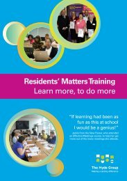 Resident Training Programme - Hyde Housing Association