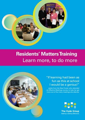 Resident Training Programme - Hyde Housing Association