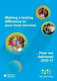 Draft Summary Resident Annual Report - Hyde Housing Association