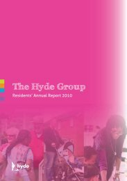 Residents' Annual Report 2010 - Hyde Housing Association