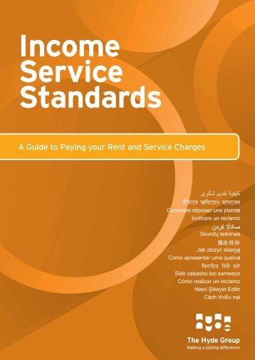 Income Service Standards - Hyde Housing Association