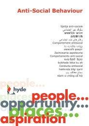 Anti-Social Behaviour.indd - Hyde Housing Association