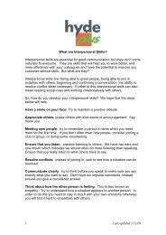 What are Interpersonal Skills - Hyde Housing Association