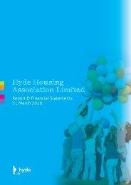 Hyde Housing Association Report & Financial Statements 31 March ...