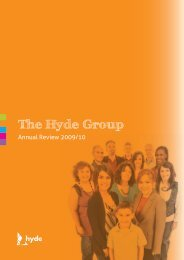 The Hyde Group Annual Review 2009/10 - Hyde Housing Association