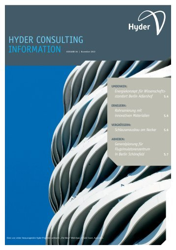 Hyder Consulting Information Ausgabe 06 | November 2010