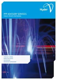PPP Advisory Services Brochure - Hyder Consulting