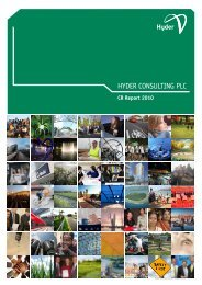 Hyder Consulting plc Corporate Responsibility Report 2010