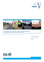 the effects of school travel initiatives in fife on ... - Hyder Consulting