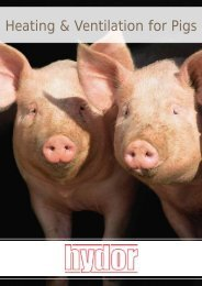 Heating & Ventilation for Pigs - Hydor