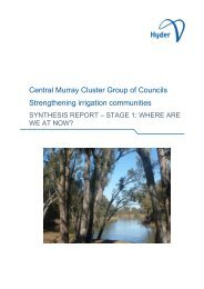 Central Murray Cluster Group of Councils ... - Hyder Consulting