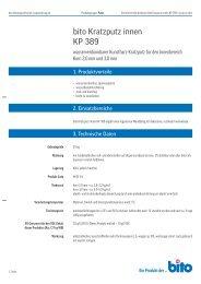 Technisches Datenblatt KP 389 - Bito AG