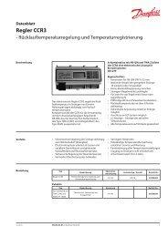 Regler CCR3 - Hydraulischer Abgleich