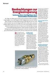 Beobachtungen zur Energieeinsparung - Hydraulischer Abgleich