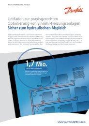 Optimierung von Einrohranlagen - Hydraulischer Abgleich