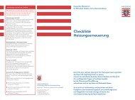 Checkliste Heizungserneuerung - Hydraulischer Abgleich