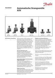 Automatische Strangventile ASV - Hydraulischer Abgleich