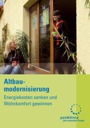 proKlima Broschüre zur Altbausanierung - Passivhauskreis