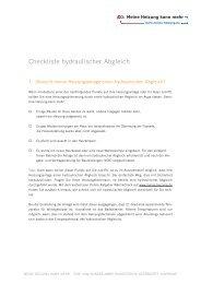 Checklisten in einem Dokument - Meine-heizung.de