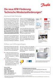 Die neue KfW-Förderung: Technische Mindestanforderungen*